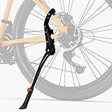 Favoto Universal Fahrradständer Einstellbarer Hinterbauständer Aluminiumlegierung Fahrrad Ständer Rutschfester Seitenständer für 24-28 Zoll Mountainbike Rennrad MTB Zubehöre