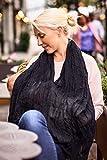 LES ENFANTS Musselin Stillschal aus weichstem Stoff, Stilltuch Stillschürze Stillcover für Unterwegs, Weich & Atmungsaktiv, diskretes Stillen Öffentlichkeit, Sichtschutz, Multi-funktional, schwarz