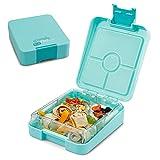 schmatzfatz Easy Kinder Snackbox, Bento Box mit unterteilten Fächern, Lunchbox (Türkis)