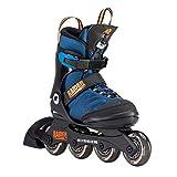 K2 Inline Skates RAIDER PRO Für Jungen Mit K2 Softboot, Black - Blue - Orange, 30D0221