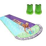 ORTUH Rasen Wasserrutschen für Kinder und Erwachsene mit 2 Aquaplane, Garten Spaß Wassersprühspielzeug Reißfester Doppelt Wasserrutschmatte Im Freien, 480x140cm