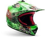 "armor HELMETS® AKC-49 ""Green"" · Kinder Cross-Helm · Motorrad-Helm MX Cross-Helm MTB BMX Cross-Bike Downhill Off-Road Enduro-Helm Moto-Cross Sport · DOT Schnellverschluss Tasche S (53-54cm)"