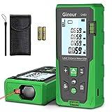 Entfernungsmesser, Ginour 99 Datensatz Laser Entfernungsmesser, 50 Meter Lasermessgerät, mit LCD Hintergrundbeleuchtung M/In/Ft für Pythagoras, Abstand, Fläche und Volumenberechnung, IP54