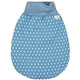 Lilakind Schlafsack Strampelsack Pucksack Frühling/Sommer Sterne Jeansblau Weiß 6-12 M