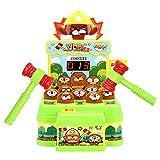 Klopfbank Maulwurf, Geschicklichkeitsspiel ab 3 Jahre Kinderspielzeug, Pädagogisches Spielzeug 3 4 5 6 Jahren Hammerspiel Spiel Montessori Motorikspielzeug Geschenk für Jungen Mädchen