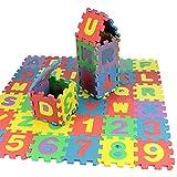 36 Stück Puzzlematte,buchstaben Puzzle Schaumstoffmatte,Zahlen Alphabet Puzzelmatten Für Babys,spielmatte Baby Lernspielzeug Ineinandergreifenden Schaumfliesen Für Kinder,Sicherheit Ungiftig Weiche