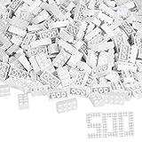 Simba 104118930 - Blox, 500 weiße Bausteine für Kinder ab 3 Jahren, 8er Steine, im Karton, vollkompatibel mit vielen anderen Herstellern