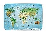 Spielteppich Ultrasoft - Rutschfest 100 x 150 cm (Around The World)