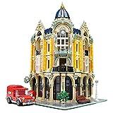 KEAYO Bausteine Haus, Mould King 16010, 4030 Teile Groß Modular Postamt Modellbausatz mit Beleuchtung, Klemmbausteine Gebäude Modell Kompatibel mit Lego Haus