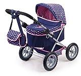 Bayer Design 1305200 13052AA Puppenwagen Trendy, höhenverstellbar, zusammenklappbar, mit Tasche, Motiv: Fee, dunkelblau