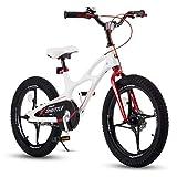 RoyalBaby Kinderfahrrad Jungen Mädchen Space Shuttle Magnesium Fahrrad Stützräder Laufrad Kinder Fahrrad 14 Zoll Weiß