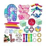Sensory Fidget Toys Set, Pop Bubble Toy Sensory Toys Stress Relief Fidget Spielzeug, Anti-Stress Fidget Toy Set, Fidget Spielzeug-Set, Stress Relieve für Kinder