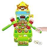 Whack Spiel, Schlag den Maulwurf, Elektronisches Mini Arcade Spielzeug, Münzspiel mit 2 Hämmern, Ausbildung Konzentration und Reaktion,Hammerspiel Spielzeug für Jungen Mädchen im Alter von 3-6 Jahren