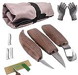 Holz-Schnitzwerkzeug Set für Anfänger und Profis,mit Schnittschutzhandschuhe- Extra Starker Level 5 Schutz,Schnitzset kinder Schnitzmesser Erwachsene,Ein Tolles Geschenk für Holzschnitzerliebhaber