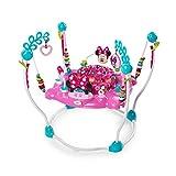 Bright Starts, Disney Baby, Minnie Maus Peekaboo höhenverstellbares Spring- und Spielcenter mit 12 Spielsachen, Lichtern und Melodien