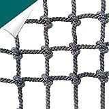 Amacthysh Garten Klettergerüst Net Erwachsene Kinder Baumhaus Gurtband Schaukel Kletterseil Netting Pet Plant Support Cargo Net Safe Net,3x4m/9.9x13.2ft
