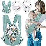 Babytragen,GOLDGE 3Pcs Baby Sling Carrier Babytrage 0-36 Monate Baby Sling Wrap Babytrage Schlingen mit Speicheltuch Erhältlich in Allen Jahreszeiten Multifunktionale Baby Essentials für Neugeborene