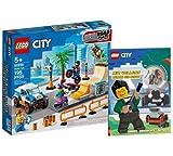 Collectix Lego Set - Lego City Skate Park 60290 + Mit Vollgas durch die Stadt (Softcover), Spielset für Kinder ab 5 Jahren