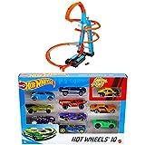 Hot Wheels Himmelscrash-Turm + 1:64 Die-Cast Auto Geschenkset