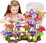 SONOMO Blumengarten Spielzeug für 3-6 Jährige Mädchen, DIY Bouquet Sets mit Aufbewahrungskiste, Kunst Blumenarrangement Geschenk für Mädchen und Jungen Geschenke zum Geburtstag Weihnachten (143PCS)