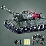 WZRYBHSD Kinderlade-Fernbedienungstank,4-Kanal-RC-Panzer Mit Ton Und Licht,Kunststoff-Funkfernsteuerungs-Militärfahrzeugmodell,Elektroauto-Spielzeug Für 5 6 7 8-12 Jährige Kinderspielzeug