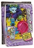 Mattel Monster High FCV67 - Monster Family Strandspaß Lagoonas Schwester Ebbie, blau