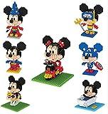 RSVT-Mini-Bausteine Sets, 7 Typen Schöne Disney-Figur-Modell, Geburtstagsgeschenke (7 Stück)