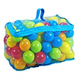 Haokaini 100Pcs 6Cm Mehrfarbige Ozeanbälle Set Pitball Spielzeug mit Netztasche für Baby Kleinkind Kinder Kinderspielzeug für Kinderpool Indoor-Partys