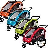 Veelar Sports 2 in 1 Kinderanhänger Fahrradanhänger Anhänger mit Buggy Set Jogger 50202-04 orange