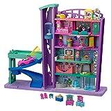 Polly Pocket GWV02 - Pollyville Einkaufspalast Grande Galleria Puppenhaus, Spielzeug ab 4 Jahren, Abweichungen in Verpackung vorbehalten