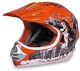 Actionbikes Motors Motorradhelm X-Treme Kinder Cross Helme Sturzhelm Schutzhelm Helm für Motorrad Kinderquad und Crossbike Modell in orange (Medium)