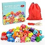 Montessori Spielzeug für 1 2 3 Jährige Mädchen, Lernspielzeug Geburtstagsgeschenke für 1 2 3 Jährige Mädchen Junge Kleinkinder Geschenk Threading Toy Spielzeug für 1 2 Jährige Mädchen Geschenke