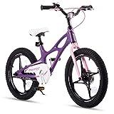 RoyalBaby Kinderfahrrad Jungen Mädchen Space Shuttle Magnesium Fahrrad Stützräder Laufrad Kinder Fahrrad 14 Zoll Violett