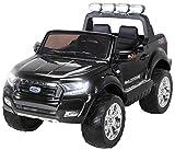 Actionbikes Motors Kinder Elektroauto Ford Ranger Wildtrak - 4 x 45 Watt Motor - Allrad - 2-Sitzer - 2,4 Ghz Rc Fernbedienung - Touch-Display (Allrad Schwarz)