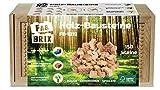 FabBrix Holz-Bausteine 150 Steine, FB-1819, Klemmbausteine aus zertifiziertem Buchenholz, 100% kompatibel mit herkömmlichen Bausteinen