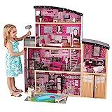 Kidkraft 65826 Möbeln und Zubehör mit Licht-und Soundeffekten Sparkle Mansion Puppenhaus aus Holz, Rosa