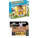 Playmobil City Life 9266 Modernes Wohnhaus, Mit Licht- und Soundeffekten, Ab 4 Jahren + Duracell Plus AAA Alkaline-Batterien, 12er Pack