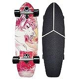 Skateboard Komplettboard Cruiser Funboard Longboards 30x9 inch Komplette Skateboard Holzboardmit ABEC-11 Kugellager 7-lagigem Ahornholz für Anfänger Jungendliche und Erwachsene Belastung 150 kg CX7