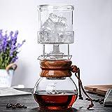 Pour Over Kaffeemaschine, 13,5 Unzen Kaffeetropfer, Top-Qualität Borosilikatglas-Karaffe mit Edelstahl-Dauerfilter - EIN Muss für die Küche