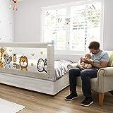Fascol Bettgitter, 180cm Kinderbettgitter Babybettgitter zum Vertikalen Heben, Bettschutzgitter für Kinderbetten und Elternbetten, 1 Seite