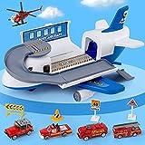 Tabiger Transportfracht Flugzeug Auto Spielzeug-Set für Kinder Jungen Mädchen Kind Geburtstagsgeschenk Baufracht Flugzeug Spielzeug-Set Flugzeug Spielzeug Autos für 3 4 5 6 Jahre alt
