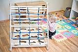 Dreieck Pikler für Kinder Kleinkinder Felsen Wand Klettern Wand Leiter Wand 3-in-1 Lernen Spielen Dreieck Pikler Spielen pädagogisch Kinder Kleinkind Holz mit blauer Schnur