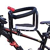Dittzz Kindersitz Fahrrad Vorne, Abnehmbar Fahrrad-Vordersitz mit Pedal Griff und Leitplanke, Kindersitz Fahrradsitz für MTB Rennrad