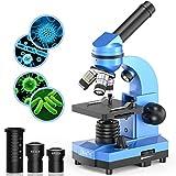 Mikroskop für Kinder Anfänger Jugendliche Studenten, 40X - 1000X Wissenschaftliches Mikroskop mit 52-teiliges Science Kit-tolles