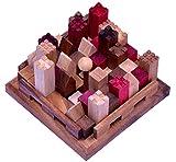 LOGOPLAY Castle - Burg - 3D Puzzle - Denkspiel - Knobelspiel - Geduldspiel - Logikspiel aus Holz mit vielen Spielvarianten