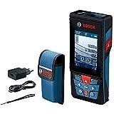 Bosch Professional Laser Entfernungsmesser GLM 120 C (Kamera, Bluetooth-Datentransfer, max. Messbereich: 120 m, Micro-USB-Kabel & Ladegerät, Trageschlaufe, Schutztasche)