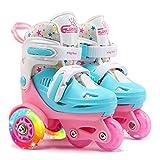 LED Rollschuhe für Kinder, größenverstellbare ABEC 7, Bequem und atmungsaktiv Quad Skates für Mädchen, Jungen, Anfänger