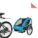 VEELAR Sport Kinderanhänger Fahrradanhänger Anhänger Kinderfahrradanhänger 50201-03 T Blau