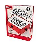 BRIO 34020 Labyrinth mit Übungsplatten, rot - Der schwedische Geschicklichkeits-Klassiker in drei verschiedenen Schwierigkeitsstufen - Für Kinder ab 6 Jahren