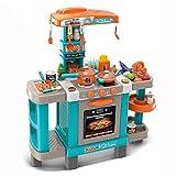 TikTakToo elektrische Kinderspielküche mit Licht und Sound Kinderküche groß Spielküche Spielzeug Zubehörteile Küche für Kinder mit Zubehör Espressomaschine